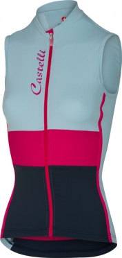 Castelli Protagonista sleeveless jersey blue/raspberry/navy women