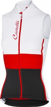 Castelli Protagonista sleeveless jersey white/red/black women