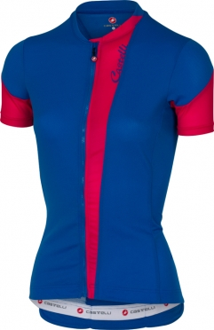 Castelli Spada jersey matte blue/raspberry women
