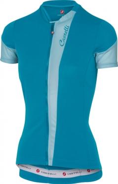 Castelli Spada jersey caribbean/blue women