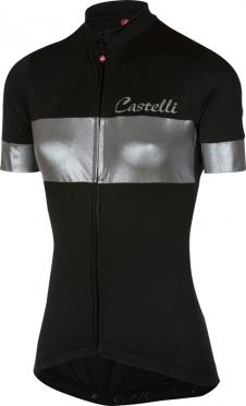 Castelli Cromo jersey black/silver women
