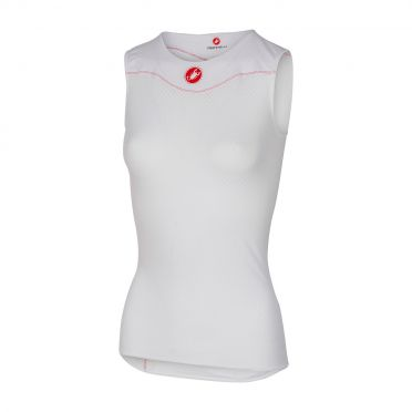 Castelli Pro issue W sleeveless baselayer white women
