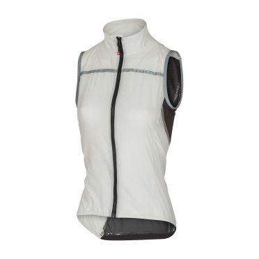 Castelli Superleggera W vest rainjacket white women