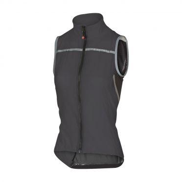 Castelli Superleggera W vest rainjacket anthracite women