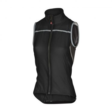 Castelli Superleggera W vest rainjacket black women