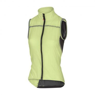 Castelli Superleggera W vest rainjacket lime women