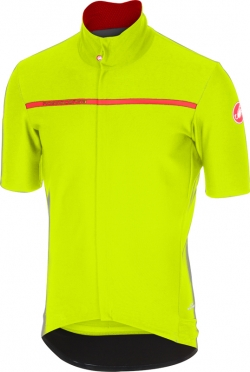 Castelli Gabba 3 short sleeve jersey yellow men