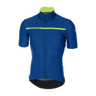 Castelli Gabba 3 short sleeve jacket ceramic blue men