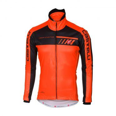 Castelli Velocissimo 2 jacket orange/black men