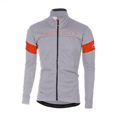 Castelli Transition jacket gray/orange men