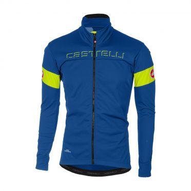 Castelli Transition jacket blue/yellow-fluo men