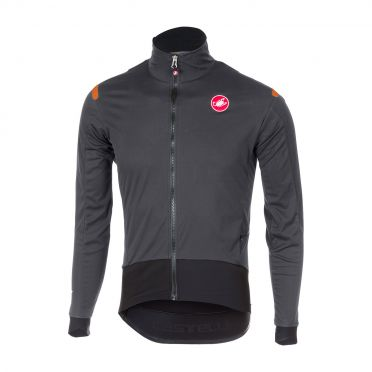 Castelli Alpha ros long sleeve jersey anthracite/black men