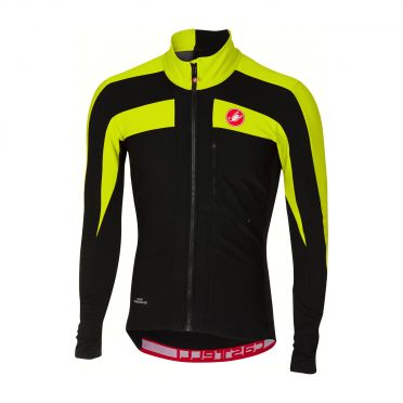 Castelli Trasparente 4 long sleeve jersey black/yellow men
