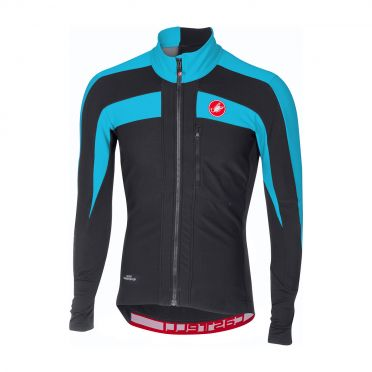 Castelli Trasparente 4 long sleeve jersey anthracite/blue men