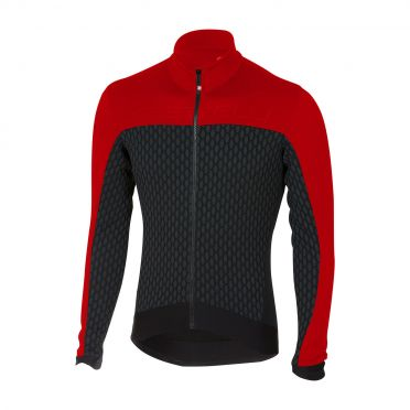 Castelli Sfida long sleeve jersey black/red men