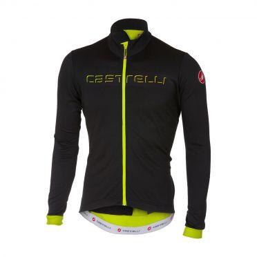 Castelli Fondo long sleeve jersey black/yellow fluo men