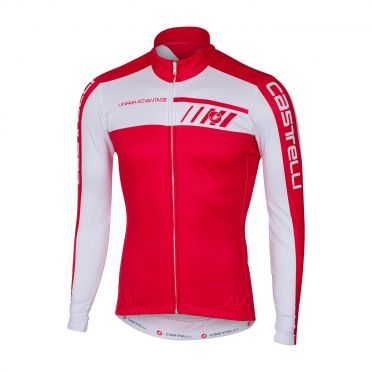 Castelli Velocissimo 2 long sleeve jersey red/white men