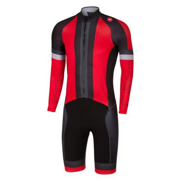 Castelli CX sanremo speedsuit red/black men