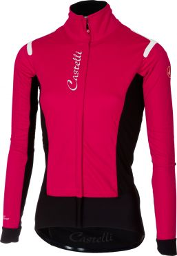 Castelli Alpha RoS W jacket pink/black women