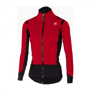 Castelli Alpha ros W long sleeve jersey red women