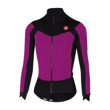 Castelli Sfida W long sleeve jersey purple/black women