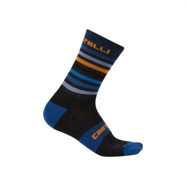 Castelli Gregge 15 sock anthracite/orange men