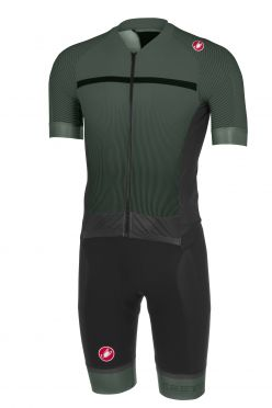 Castelli Sanremo 3.2 speedsuit short sleeve forest/black men