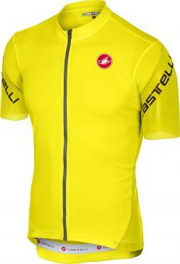 Castelli Entrata 3 jersey short sleeve yellow fluo men