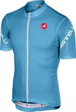 Castelli Entrata 3 jersey short sleeve light blue men