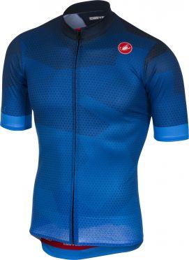Castelli Flusso jersey blue men