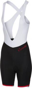 Castelli Vista bibshort black/red women