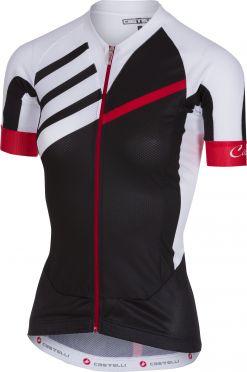 Castelli Aero race W jersey FZ black/white women