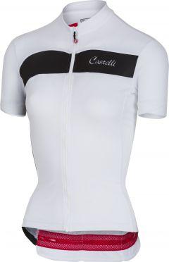 Castelli Scheggia jersey white/black women