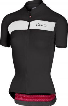 Castelli Scheggia jersey black/white women