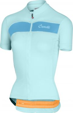 Castelli Scheggia jersey green/blue women