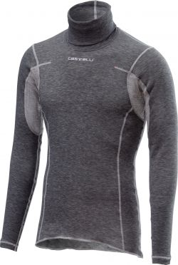 Castelli Flanders warm long sleeve baselayer gray men