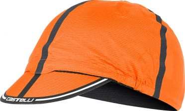 Castelli Ros cycling cap orange men