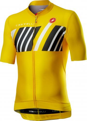 Castelli Hors Categorie short sleeve jersey yellow men