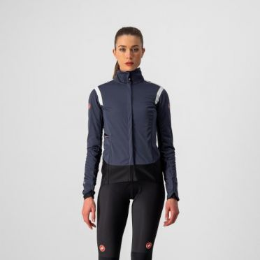 Castelli Alpha RoS 2 jersey long sleeve darkblue women