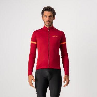 Castelli Fondo 2 long sleeve jersey red men