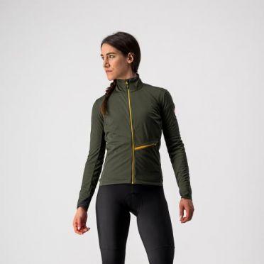 Castelli GO cycling jacket green woman