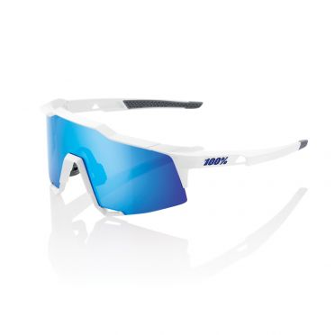 100% Speedcraft glasses white with hiper lens blue