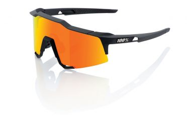 100% Speedcraft glasses black with hiper lens orange