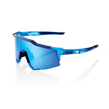 100% Speedcraft glasses polished crystal blue with hiper lens blue