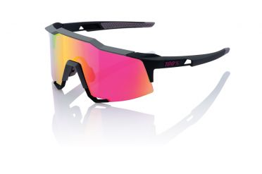 100% Speedcraft glasses soft tact graphit with mirror lens
