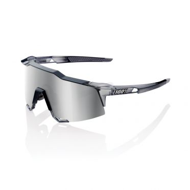 100% Speedcraft glasses polished crystal grey with hiper lens grey