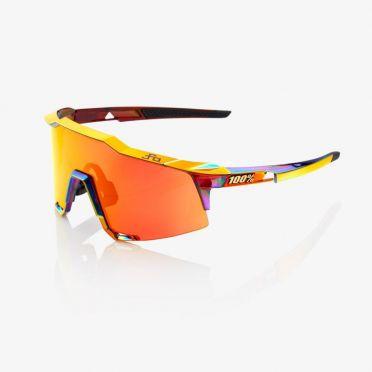 100% Speedcraft glasses chromium with hiper lens red