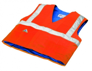 TechNiche HyperKewl evaporative cooling vest safety orange