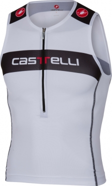 Castelli Core tri top white/black men