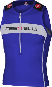 Castelli Core tri top blue/white men